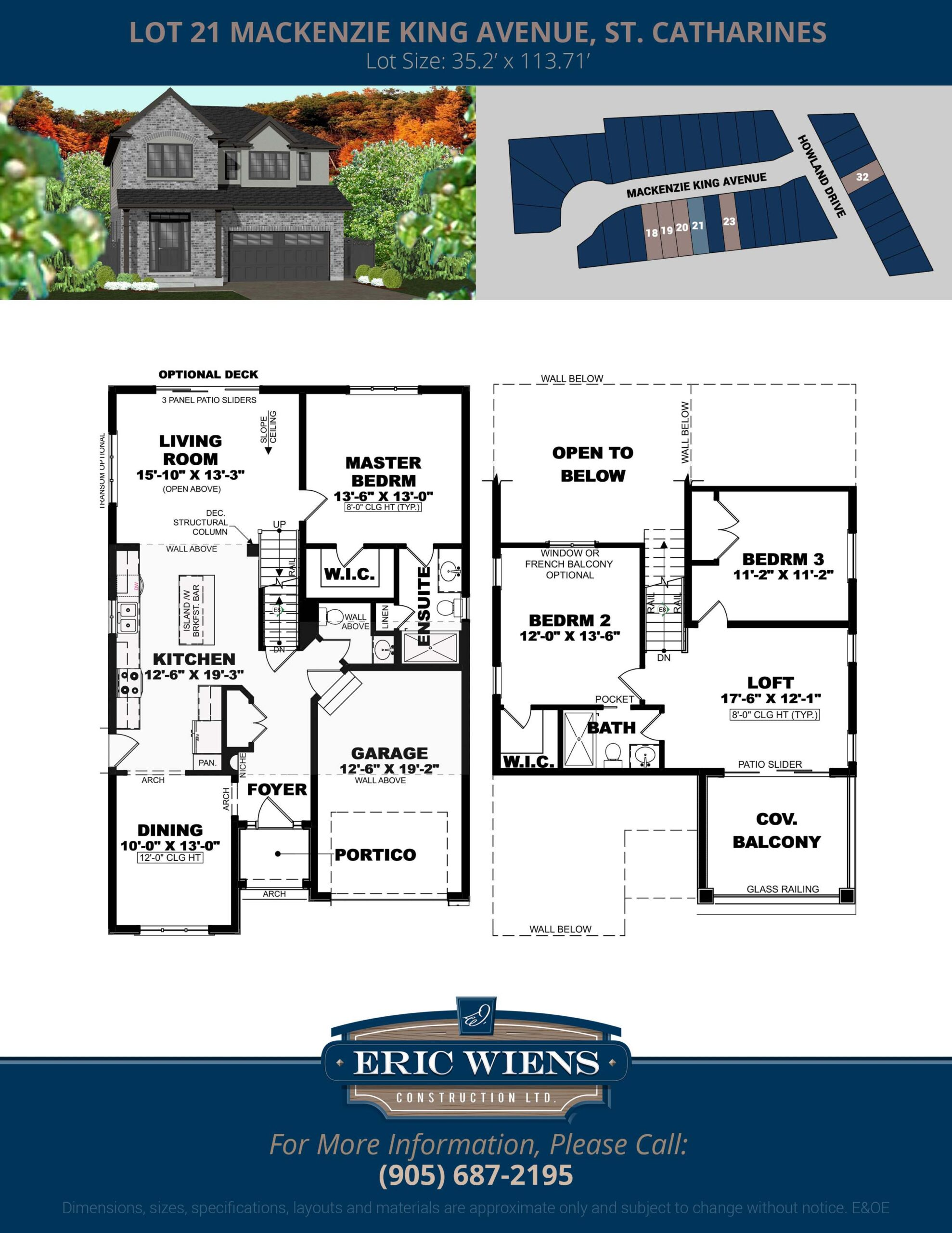 Lot 21 Mackenzie King Avenue Floor Plan