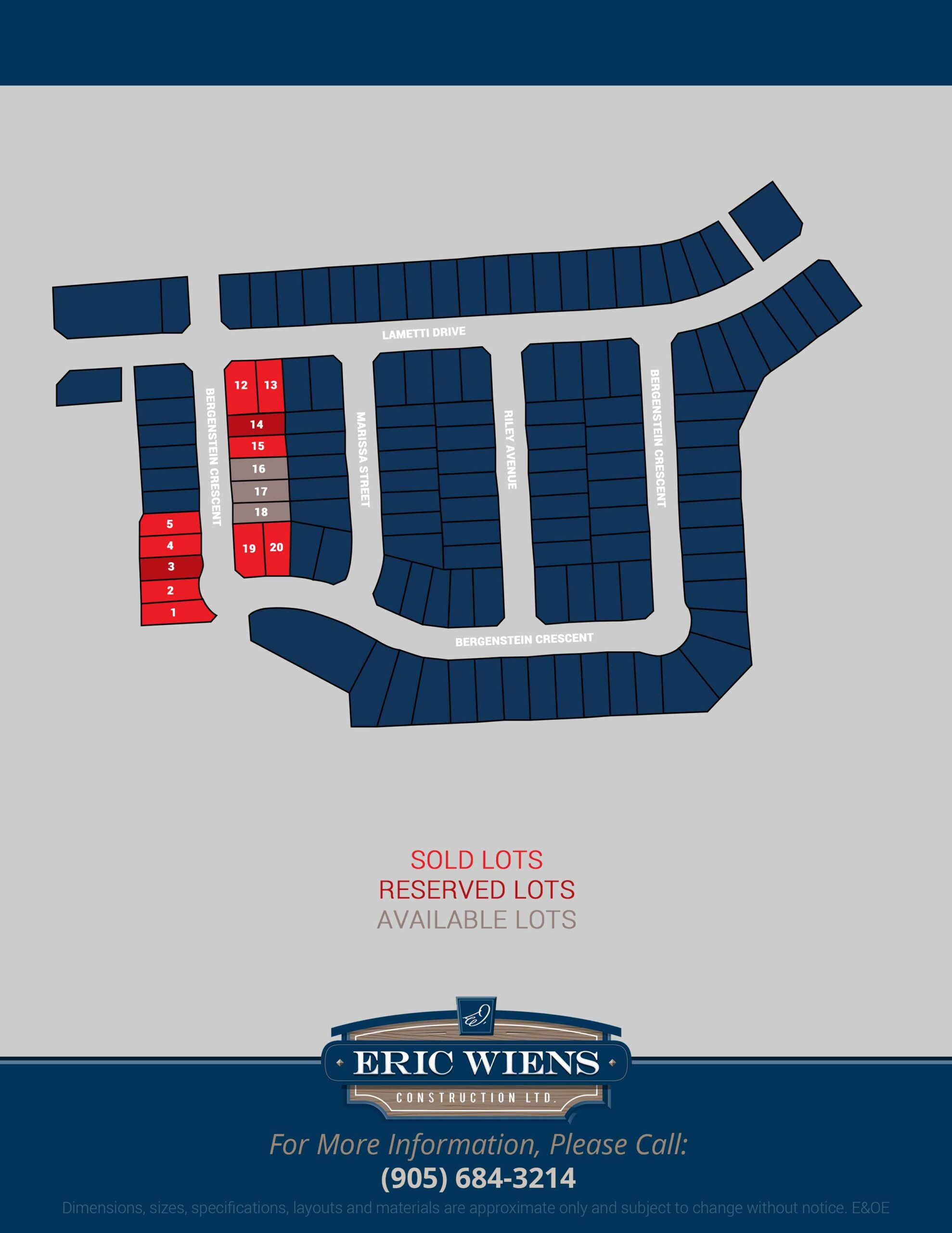 Lot 14 Bergenstein Crescent Site Plan