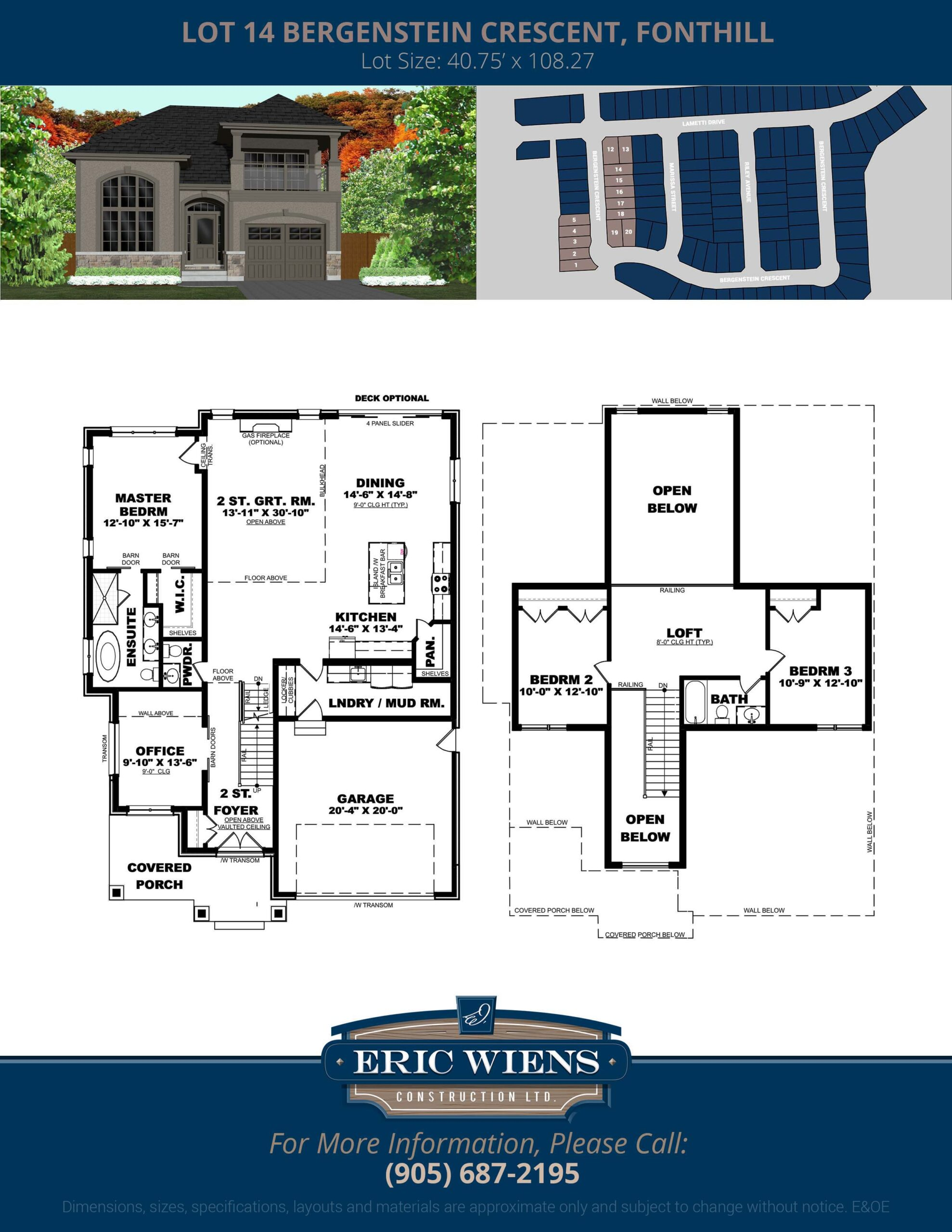 Lot 14 Bergenstein Crescent Floor Plan