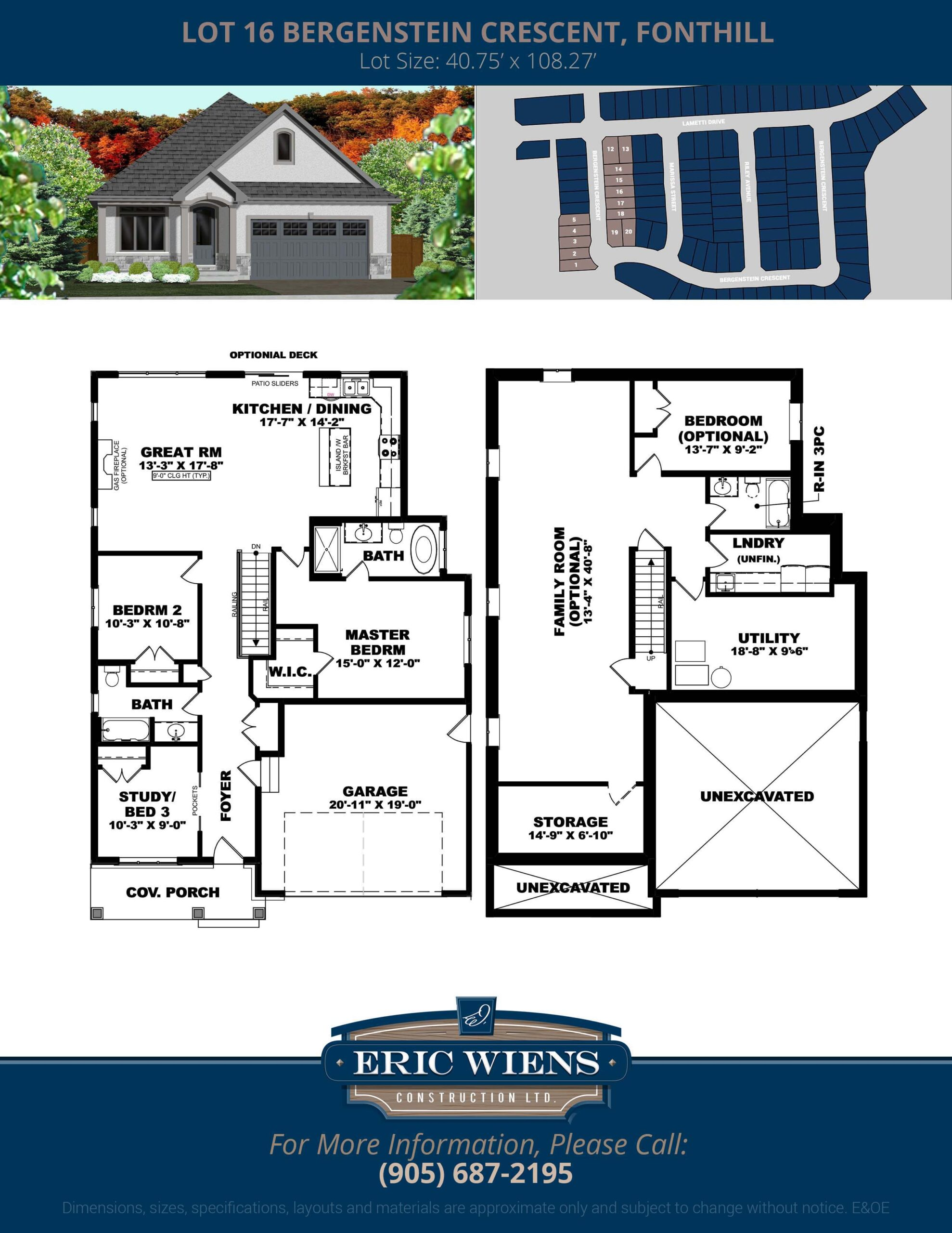 Lot 16 Bergenstein Crescent Floor Plan