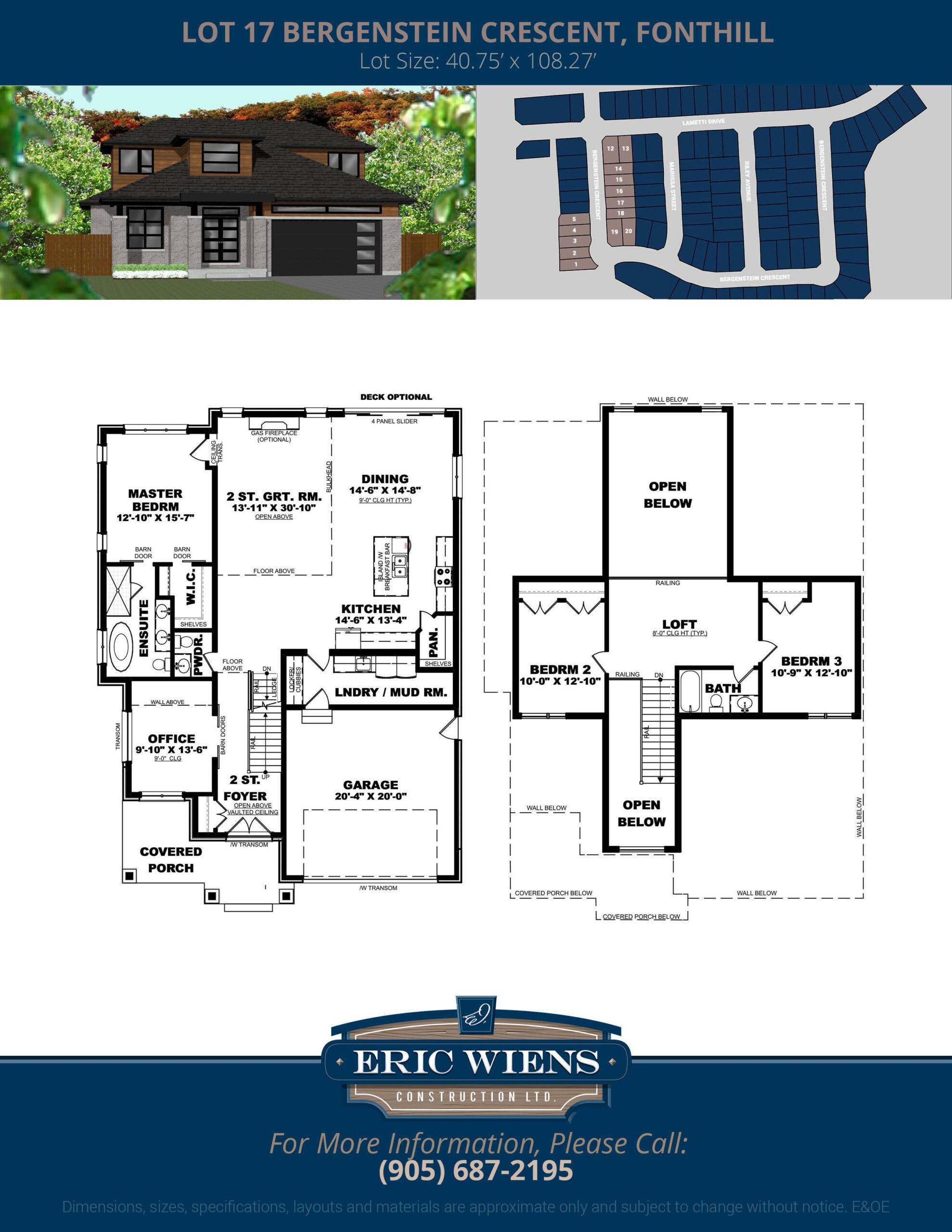 Lot 17 Bergenstein Crescent Floor Plan