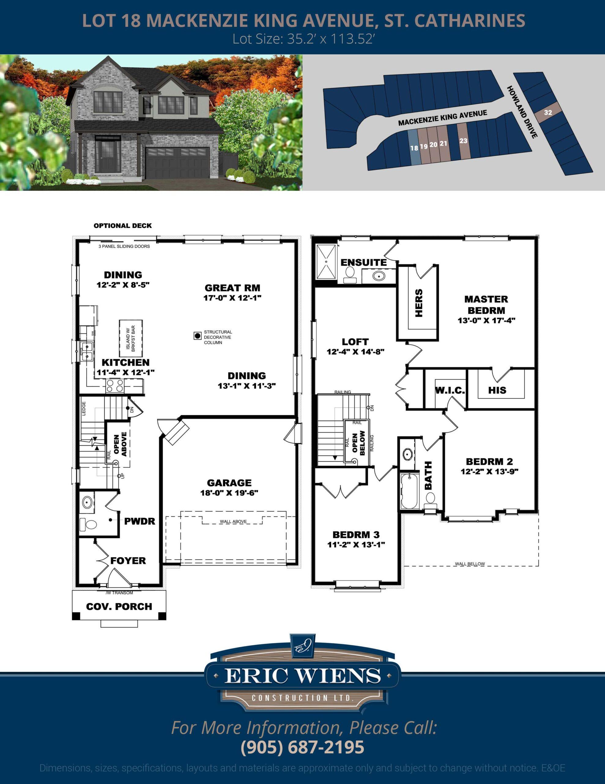 Lot 18 Bergenstein Crescent Floor Plan