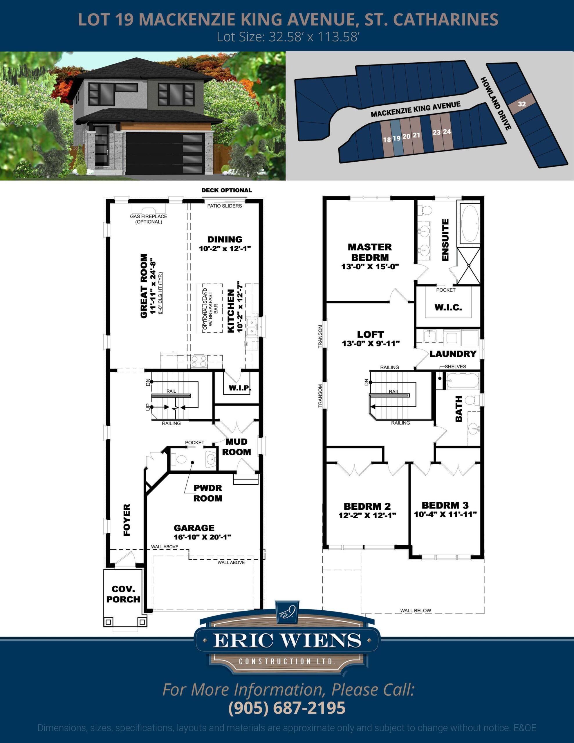 Lot 19 Mackenzie King Avenue Floor Plan
