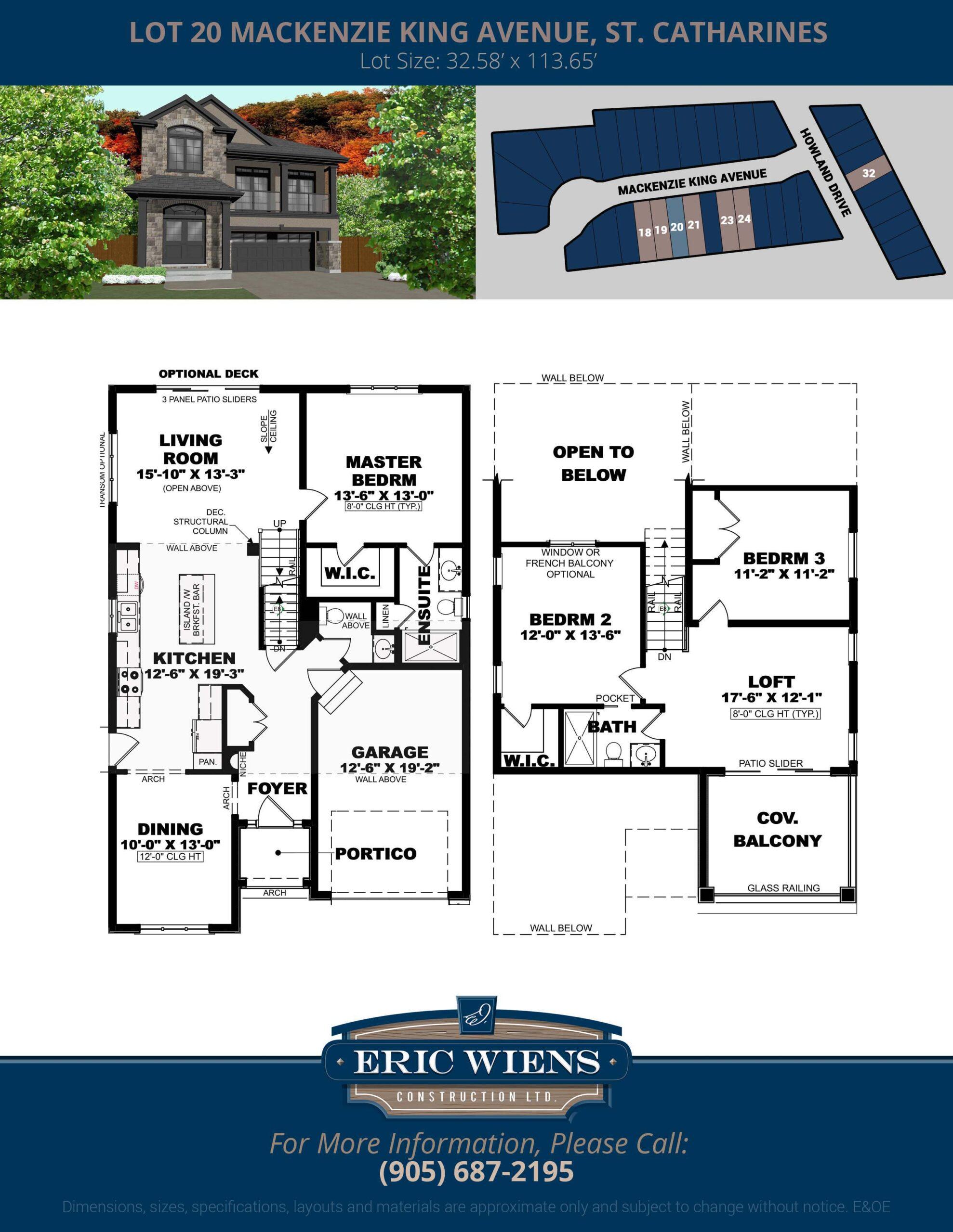 Lot 20 Mackenzie King Avenue Floor Plan