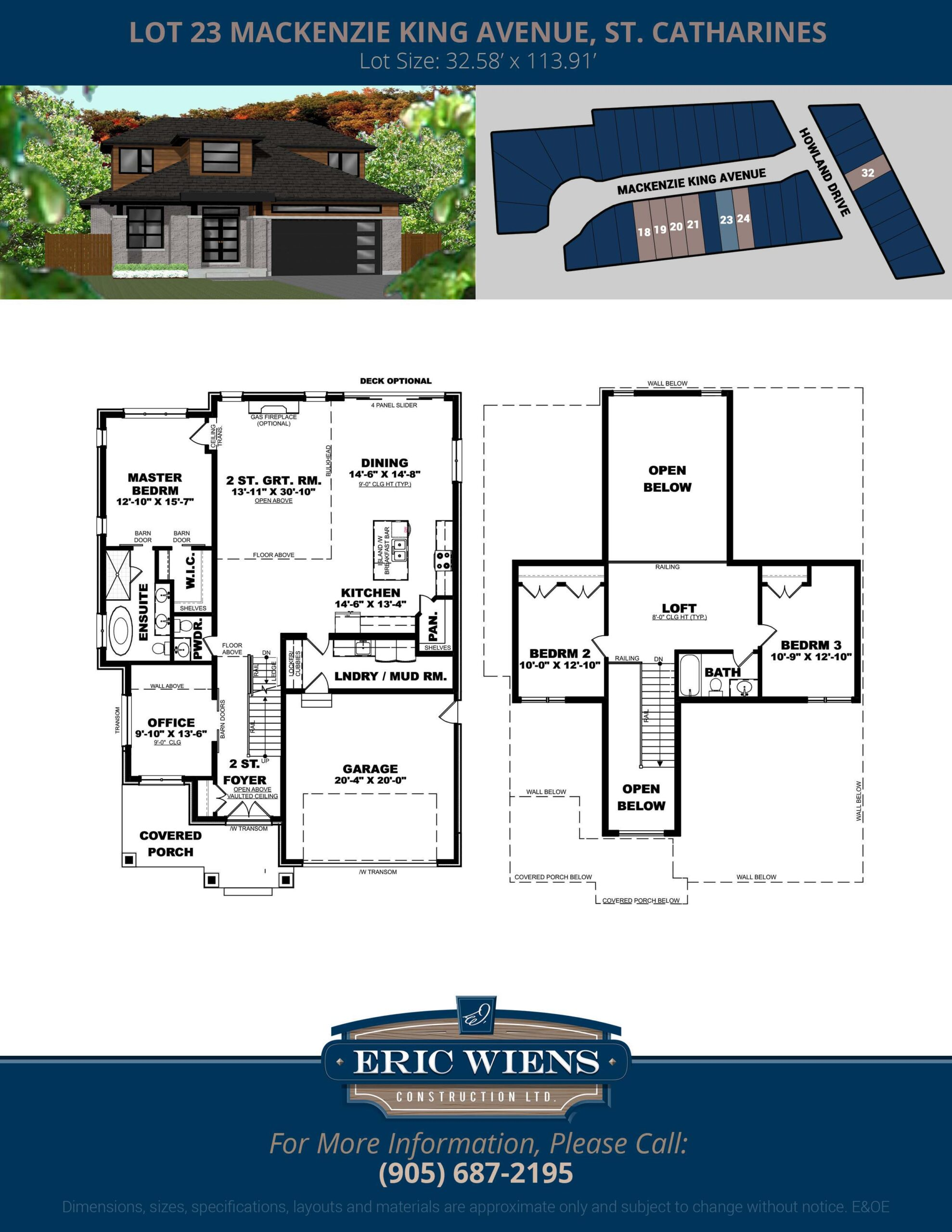 Lot 23 Mackenzie King Avenue Floor Plan