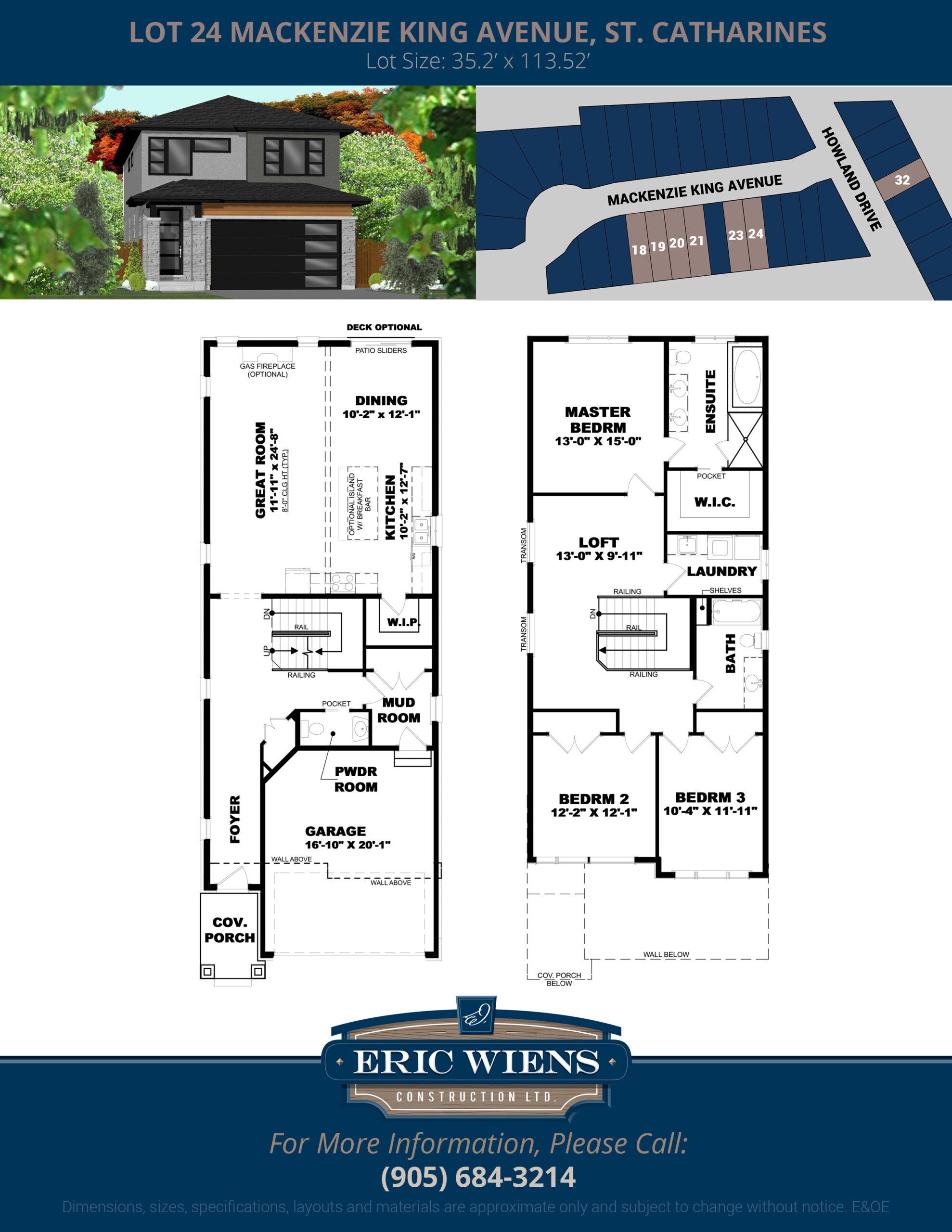 Lot 24 Mackenzie King Avenue Floor Plan