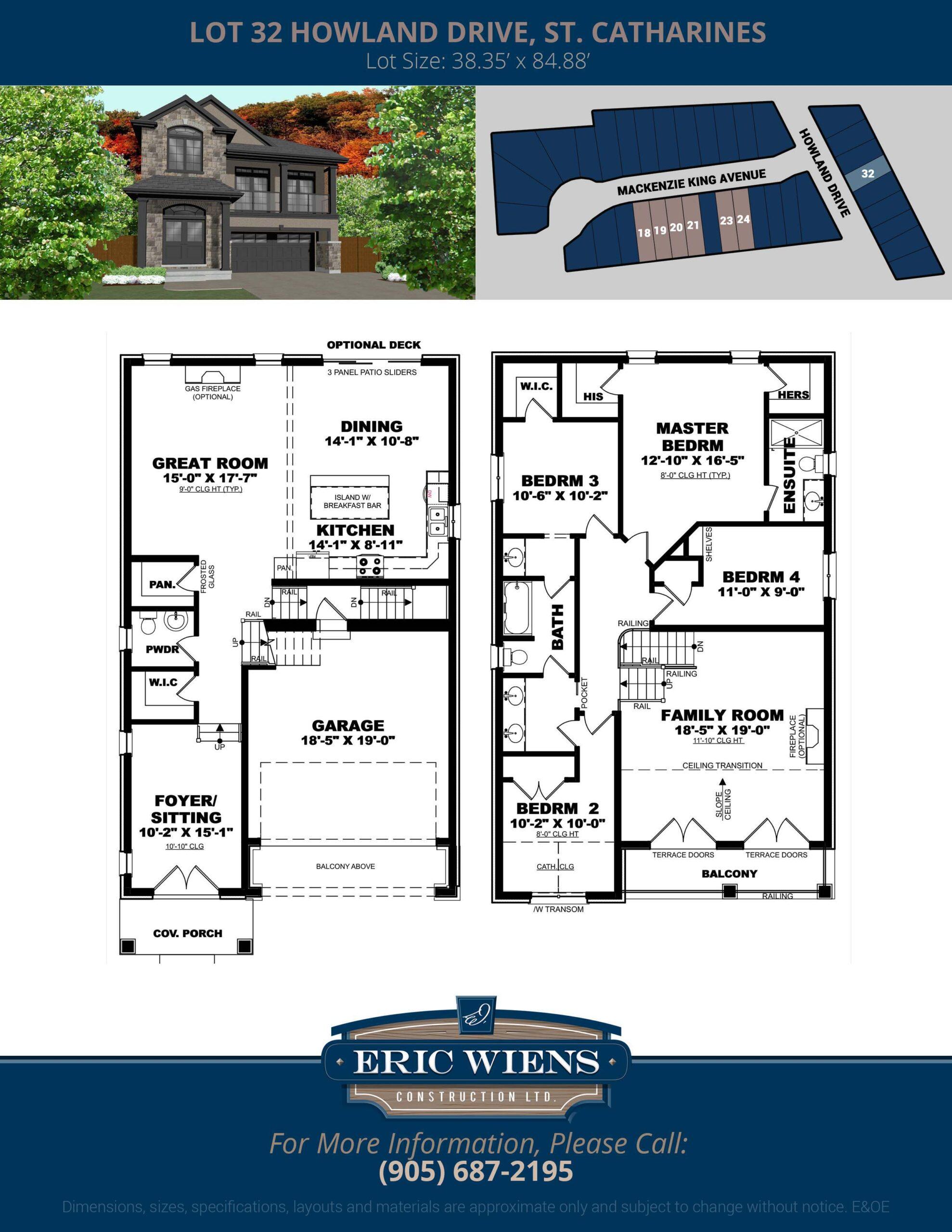 Lot 32 Howland Drive Floor Plan