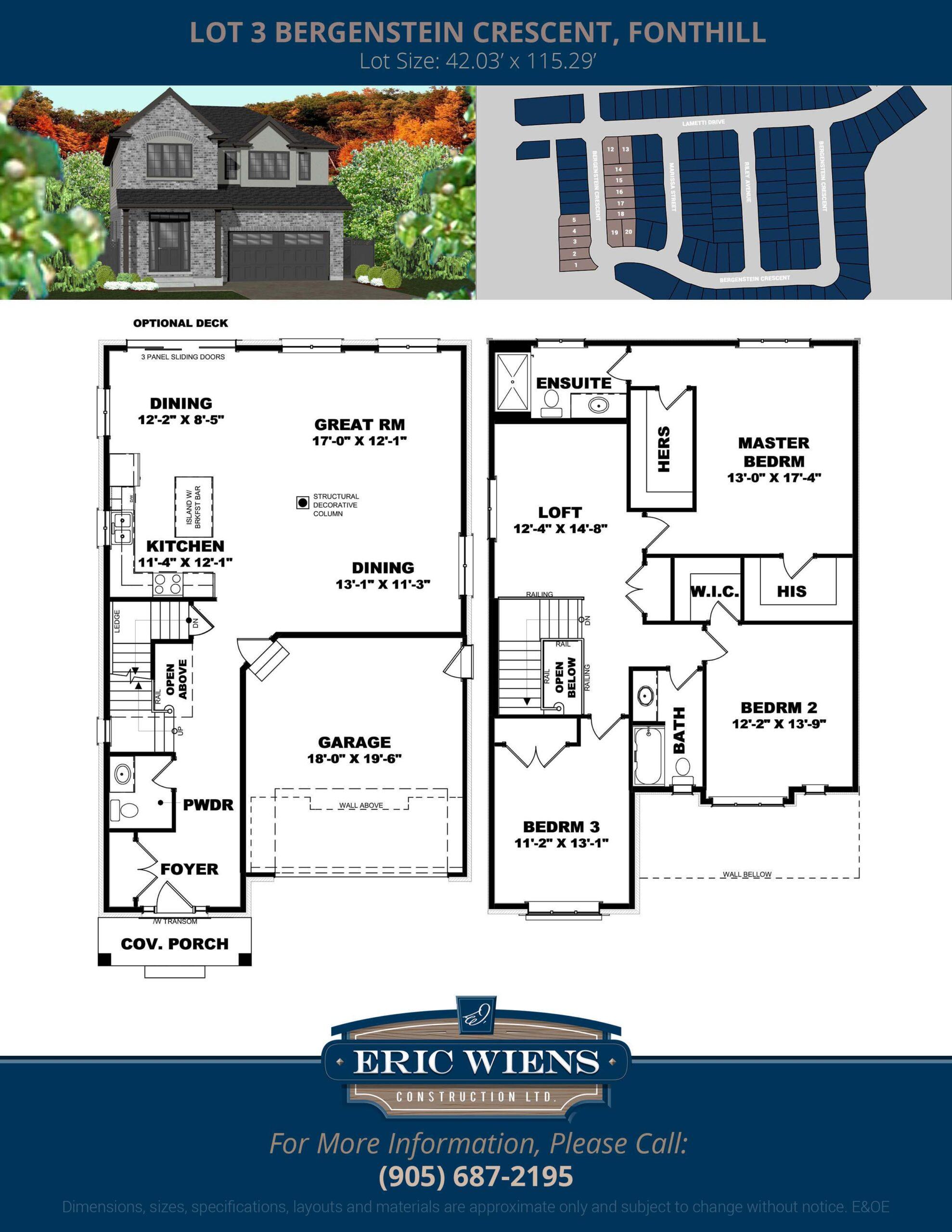 Lot 3 Bergenstein Crescent Floor Plan