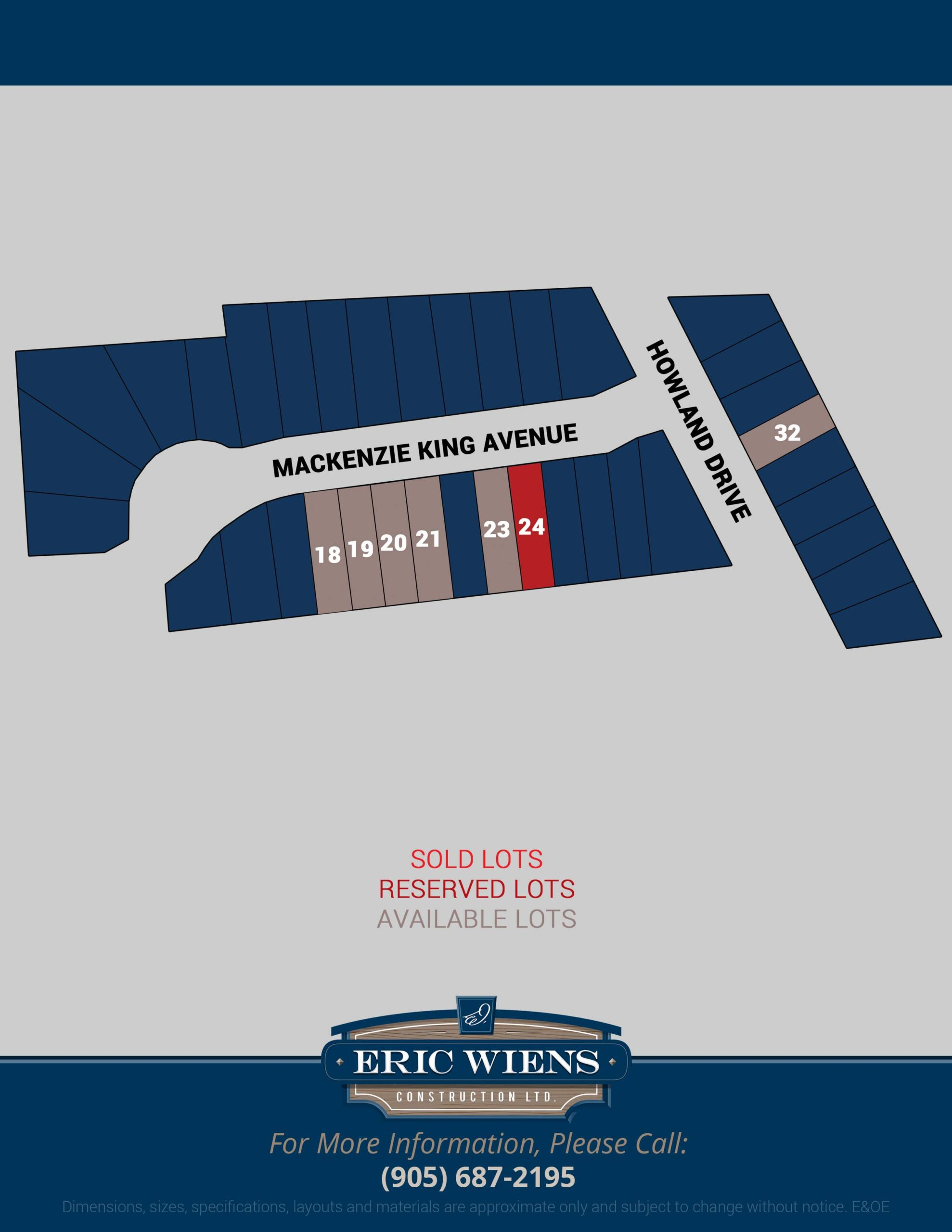 Lot 21 Mackenzie King Avenue Site Plan