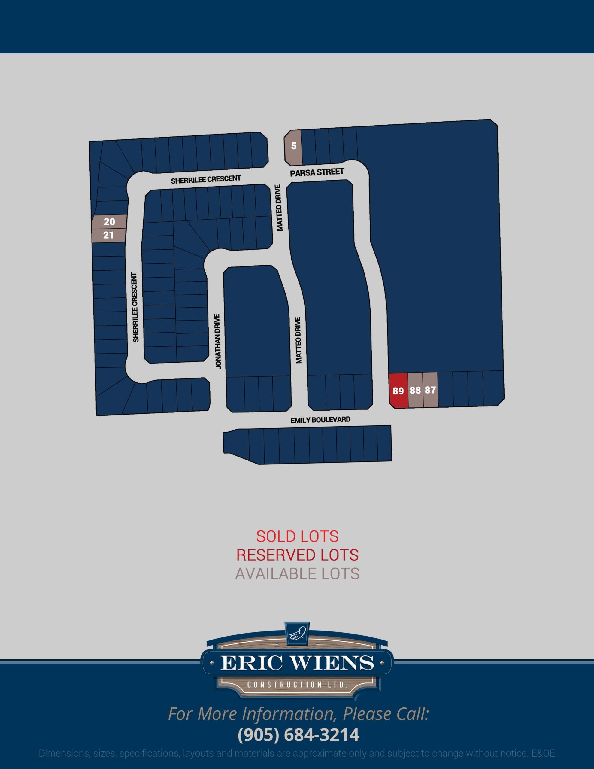 Lot 87 Emily Boulevard Site Plan