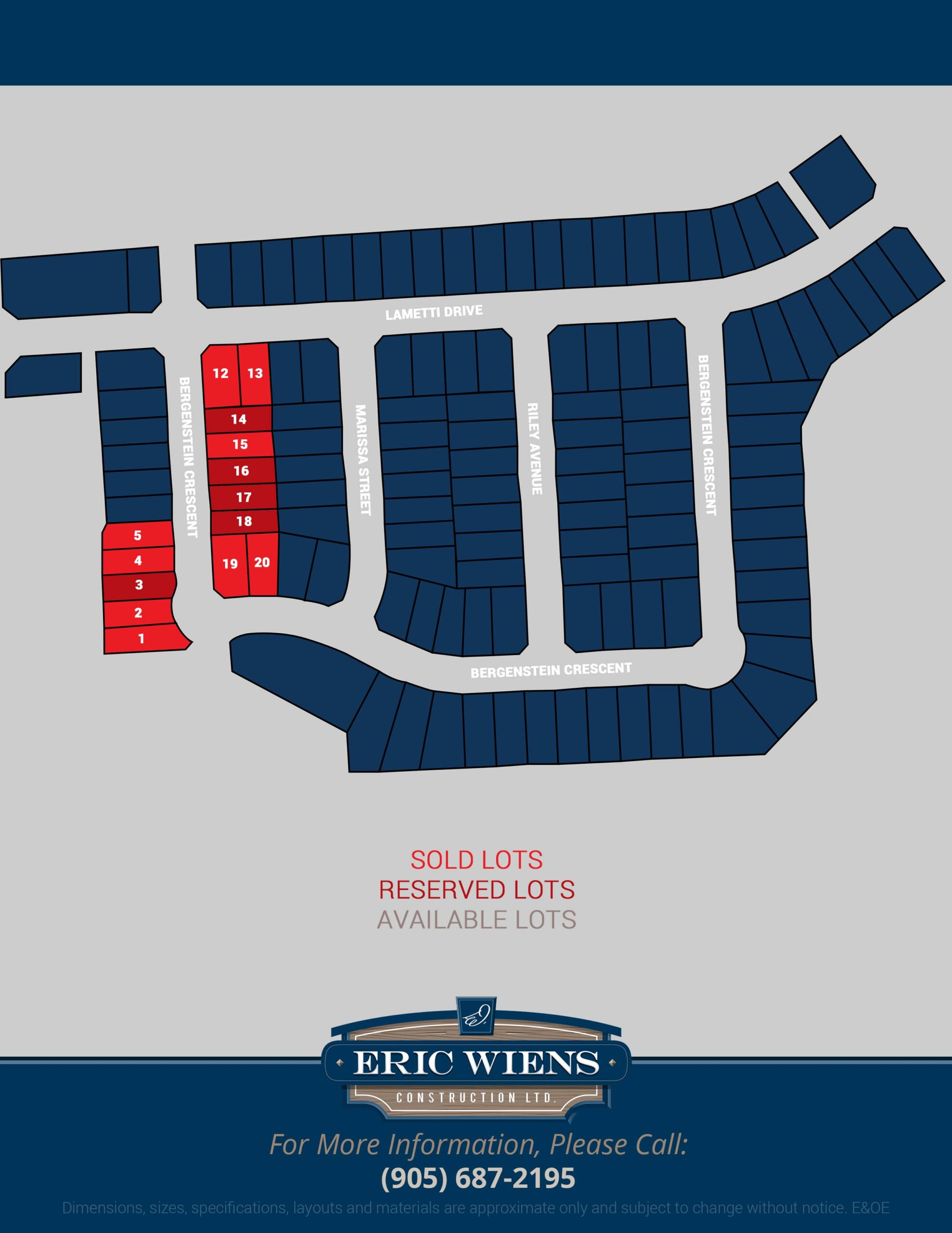 Lot 16 Bergenstein Crescent Site Plan